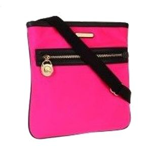 MICHAEL KORS KEMPTON Crossbody Bag Neon Pink